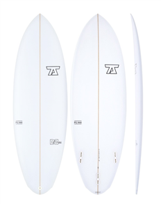 7S Double Down PU Surfboard, Clear