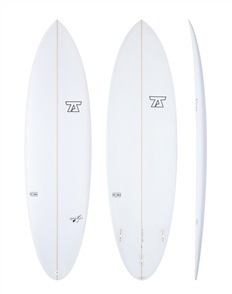 7S Jetstream PU Surfboard, Clear