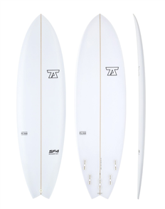7S SuperFish 4 PU Surfboard, Clear
