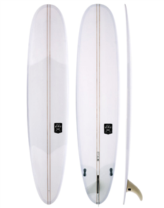 Creative Army Five Sugars PU 2  Stringer Surf Longboard, Clear