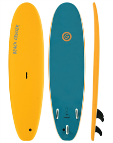 Gnaraloo Beach Cruiser Soft Surfboard, Pilsner Steel