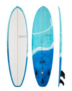 Modern Falcon PU Blue Swirl Tint Surfboard