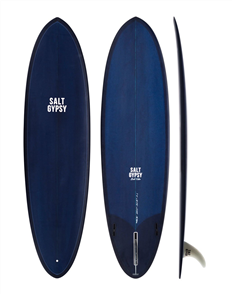Salt Gypsy Surfboards & SUP Mid Tide Ocean Blue Tint Surfboard