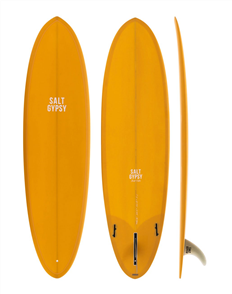 Salt Gypsy Surfboards & SUP Mid Tide Mustard Tint Surfboard