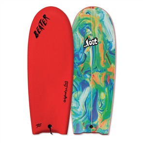 Beater Original 54 Pro Twin Fin Soft Board, LOST  RED