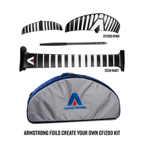 Armstrong Foils CF1200 Wing + 72cm Mast Foil Kit, Create Your Custom Combo