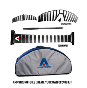 Armstrong Foils CF2400 V2 Wing Complete Foil Kit with 72cm Mast (A+ System)