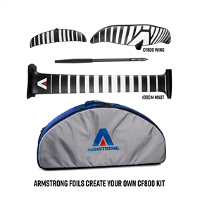 Armstrong Foils CF800 Wing + 100cm Mast Foil Kit, Create Your Custom Combo