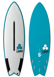 Channel Islands High 5 Tuflite Pro Carbon Surfboard - Grey/Blue