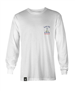 Salty Crew Chasing Tail Fish Tech Long Sleeve Tshirt, White