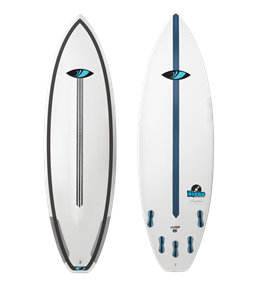 Sharpeye The Disco Cheater 5-Fin Surfboard, White