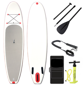 "Blank Inflatable Sup Combo Full Package - 10'6 X 32"", White Grey"