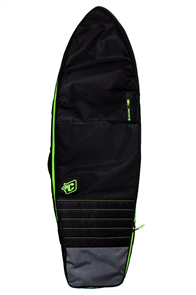 Creatures Of Leisure Fish Double Board Bag, Black Lime