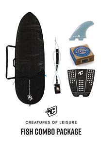 Creatures Of Leisure Fish 3mm Foam Lite Bag, 6'0 Pro Leash, Icon Grip, FCS Fins, Wax Combo