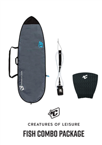 Creatures Of Leisure Fish 3mm Foam Lite Bag, 6'0 Pro Leash, Panel Grip Combo