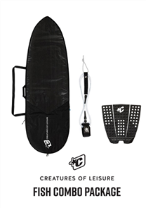 Creatures Of Leisure Fish 3mm Foam Lite Bag, 6'0 Pro Leash, Icon Grip Combo