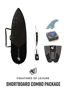 Creatures Of Leisure Shortboard Lite Bag, 6'0 Pro Leash, Icon Grip, FCS Fins, Wax Combo