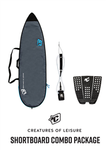 Creatures Of Leisure Shortboard Lite Bag, 6'0 Pro Leash, Icon Grip Combo