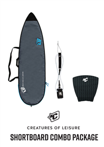 Creatures Of Leisure Shortboard Lite Bag, 6'0 Pro Leash, Panel Grip Combo