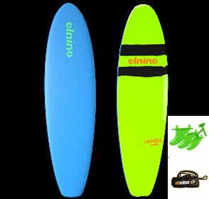 "El Nino Cruiser Soft Surfboard, 2017-18, Light Blue, Size 6'6"""