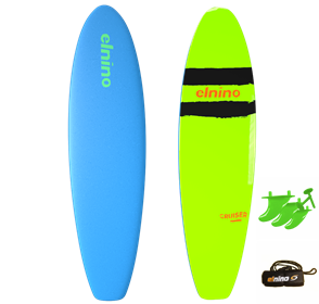 El Nino Cruiser Soft Surfboard, 2017-18, Light Blue, Size 7'0