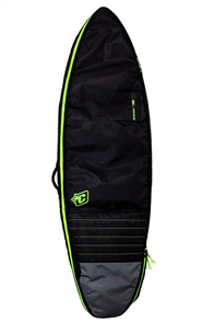 Creatures Of Leisure Shortboard Double Board Bag, Black Lime
