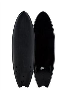 Catch Surf Blank Series Fish Tri Fin Softboard, Black 20