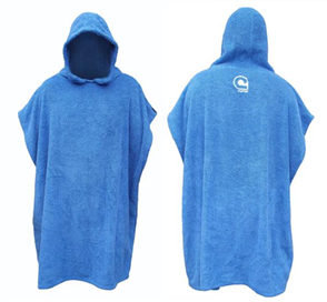 Curve Kids El Poncho Jr Surf Change Robe - Youth, Blue