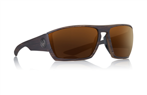 Dragon Cutback Sunglasses, Woodgrain Cooper Ion