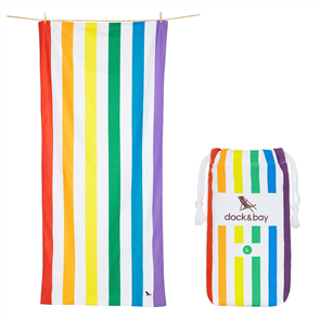 Dock & Bay Microfibre Beach Towel, Rainbow Skies