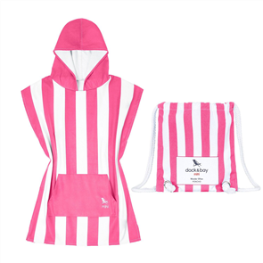 Dock & Bay Kids Poncho, Phi Phi Pink