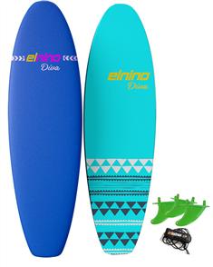 El Nino Diva - Cruiser Soft Surfboard, 2017-18, Purple/blue, Size 7'0