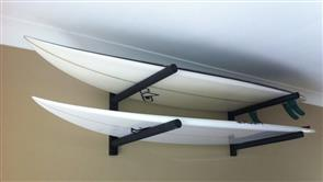 Curve Surfboard Wall Rack - Double Steel