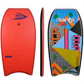 Manta Sonic Bodyboard, Red