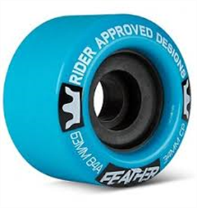 Sector 9 Longboards Rad Feather 84A 63mm Wheels, Blue