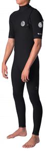 Rip Curl E Bomb Zip Free 22Gb Short Sleeve Steamer, 0090 Black