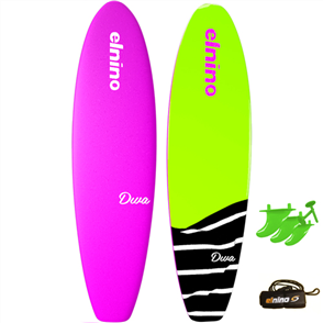 "El Nino Diva - Soft Surfboard, 2017-18, Pink, Size 6'0"""