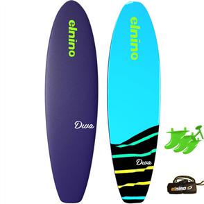 "El Nino Diva - Soft Surfboard, 2017-18, Purple/blue, Size 6'0"""