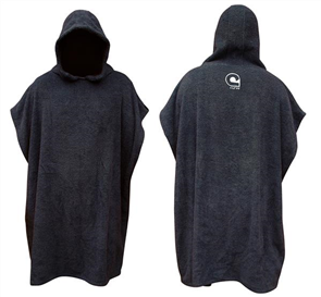 Curve Kids El Poncho Jr Surf Change Robe - Youth, Charcoal