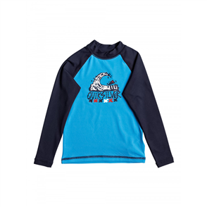 Quiksilver Bubble dream l/s Kids Rash, Blue Light