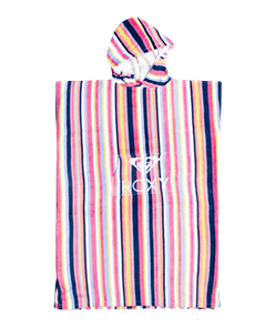 Roxy 100% COTTON TEEN STAY MAGICAL PRINTED HOODED TOWEL, HEATHER ROSE