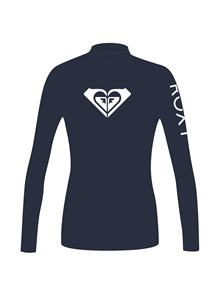 Roxy Girl Heater Long Sleeve Rashguard, Medieval Blue