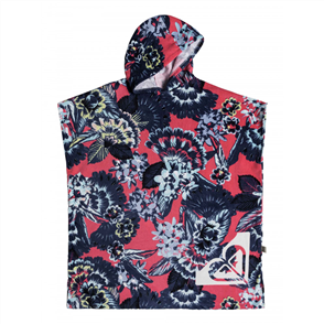 Roxy Pass This On Printed hooded towel, Rouge Red Mahna Mahn