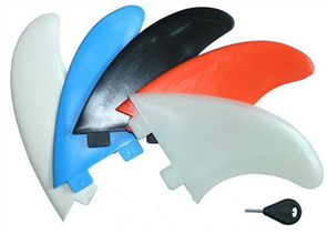 Curve Nylon Thruster N1 Fin Set, Blue