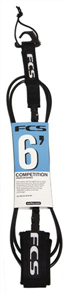 FCS 6' Comp Leash 5.5mm Black