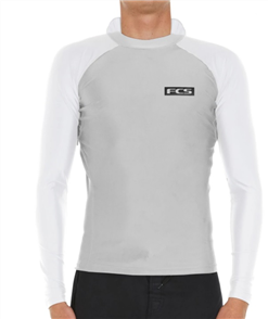 FCS Essential Hooded LS Rash Vest, Grey