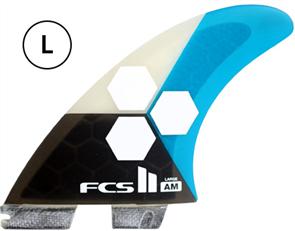 FCS II AM PC Large Teal Tri Retail Fins