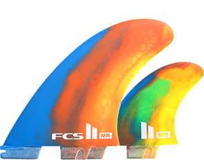 FCS II MR PC XLarge 2+1 Fins, Multi Colour Swirl