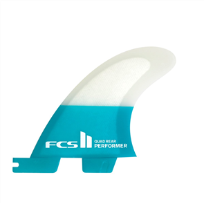 FCS II Performer PC Teal Large Quad Rear Retail Fins