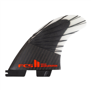 FCS II Accelerator PC Carbon Red Mood Medium Tri Retail Fins